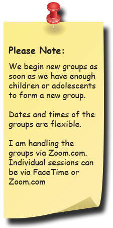 We Begin new groups as soon as we have enough children or adolescents to form a new group. Click here to see our current class schedule.